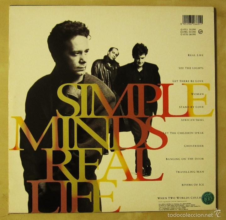 Discos de vinilo: SIMPLE MINDS - REAL LIFE - VINILO ORIGINAL PRIMERA EDICION VIRGIN 1991 - Foto 3 - 56642805