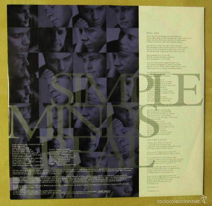 Discos de vinilo: SIMPLE MINDS - REAL LIFE - VINILO ORIGINAL PRIMERA EDICION VIRGIN 1991 - Foto 5 - 56642805
