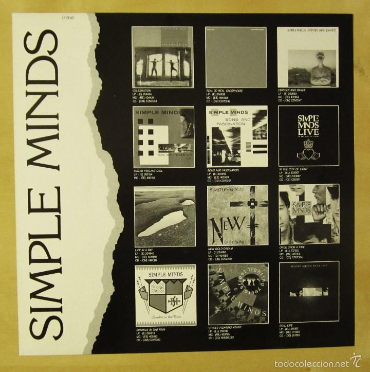 Discos de vinilo: SIMPLE MINDS - REAL LIFE - VINILO ORIGINAL PRIMERA EDICION VIRGIN 1991 - Foto 7 - 56642805