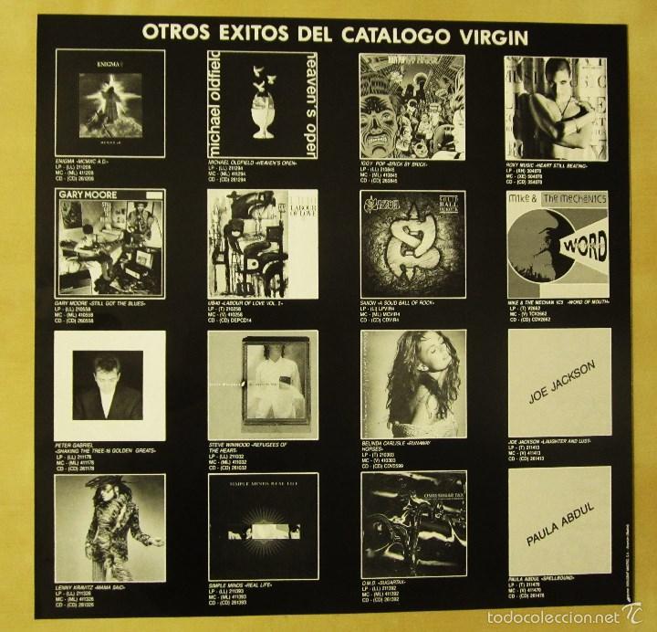 Discos de vinilo: SIMPLE MINDS - REAL LIFE - VINILO ORIGINAL PRIMERA EDICION VIRGIN 1991 - Foto 8 - 56642805