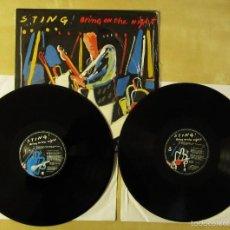 Discos de vinilo: STING - BRING ON THE NIGHT - DOBLE ALBUM VINILO ORIGINAL EDICION AM RECORDS 1991. Lote 56643068