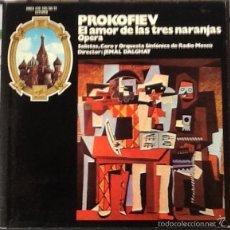 Discos de vinilo: PROKOFIEV,. OPERA, 3 DISCOS EN CAJA Y CON LIBRETO. SIN ESTRENAR. ENVIO CERTIFICADO INCLUIDO.. Lote 56646205