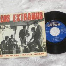 Discos de vinilo: LOS EXTRAÑOS 7´EP TERRY / ¡ VIVA LAS VEGAS ! + 2 TEMAS (1965) DISCO PROMOCIONAL DE RADIO CON SELLOS-. Lote 56647010