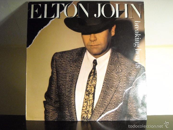 LP VINYL - BREAKING HEARTS (ELTON JOHN) (VG+ / VG) (Música - Discos - LP Vinilo - Rock & Roll)
