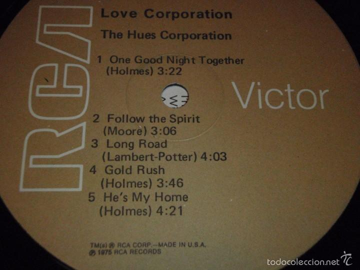 Discos de vinilo: THE HUES CORPORATION ( LOVE CORPORATION ) NEW YORK-USA 1975 LP33 RCA - Foto 4 - 56657740