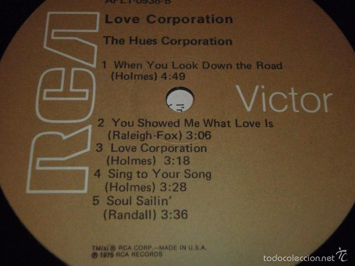 Discos de vinilo: THE HUES CORPORATION ( LOVE CORPORATION ) NEW YORK-USA 1975 LP33 RCA - Foto 5 - 56657740