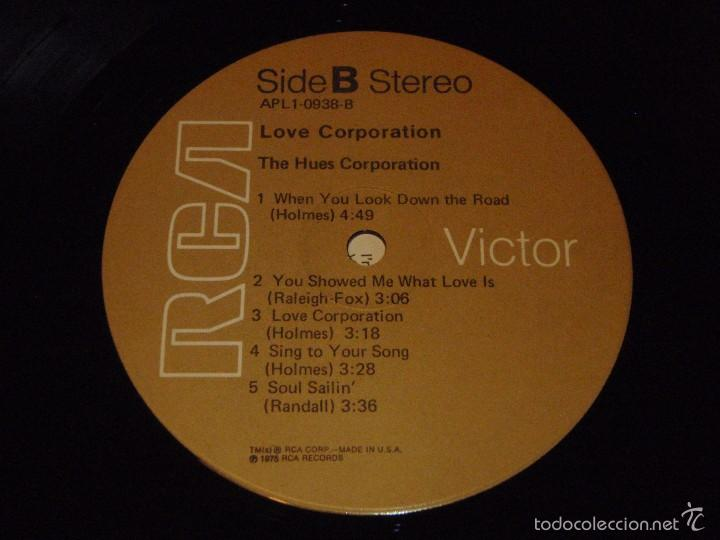Discos de vinilo: THE HUES CORPORATION ( LOVE CORPORATION ) NEW YORK-USA 1975 LP33 RCA - Foto 6 - 56657740