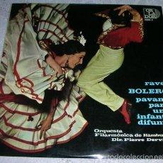 Discos de vinilo: MAURICE RAVEL - BOLERO / PAVANA PARA UNA INFANTA DIFUNTA - MINI LP 10''. Lote 56658550