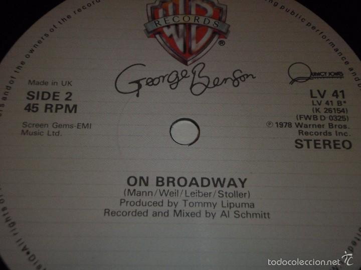 Discos de vinilo: GEORGE BENSON ( LOVE x LOVE - OFF BROADWAY 2 VERSIONES ) ENGLAND-1978 MAXI45 WARNER BROS - Foto 4 - 56659735