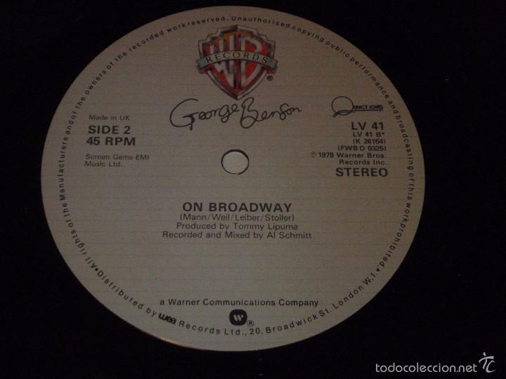 Discos de vinilo: GEORGE BENSON ( LOVE x LOVE - OFF BROADWAY 2 VERSIONES ) ENGLAND-1978 MAXI45 WARNER BROS - Foto 5 - 56659735