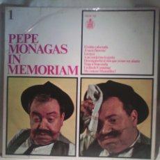 Discos de vinilo: LOTE 2 DISCOS DE VINILO PEPE MONAGAS - IN MEMORIAM 1 Y 2. Lote 56659829