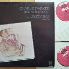 Discos de vinilo: CHARLIE PARKER - BIRD AT THE ROOST. THE SAVOY YEARS VOL. 1 (2 LPS) - SAVOY JAZZ (USA, 1985). Lote 56664732