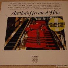 Discos de vinilo: ARETHA FRANKLIN ( ARETHA'S GREATEST HITS ) 1973 - GERMANY LP33 ATLANTIC. Lote 56665743