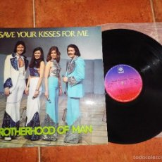 Discos de vinilo: BROTHERHOOD OF MAN SAVE YOUR KISSES FOR ME EUROVISION INGLATERRA 1976 LP VINILO ESPAÑOL 12 TEMAS. Lote 56670880