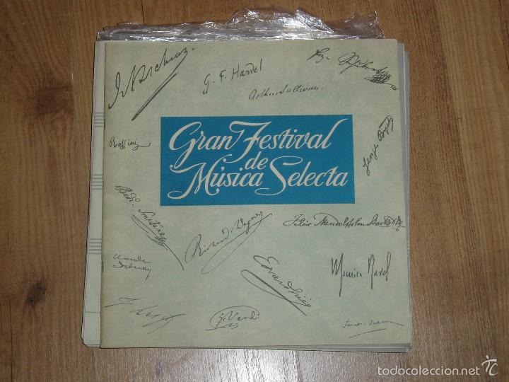 Discos de vinilo: GRAN FESTIVAL DE MUSICA SELECTA - Foto 3 - 56674506