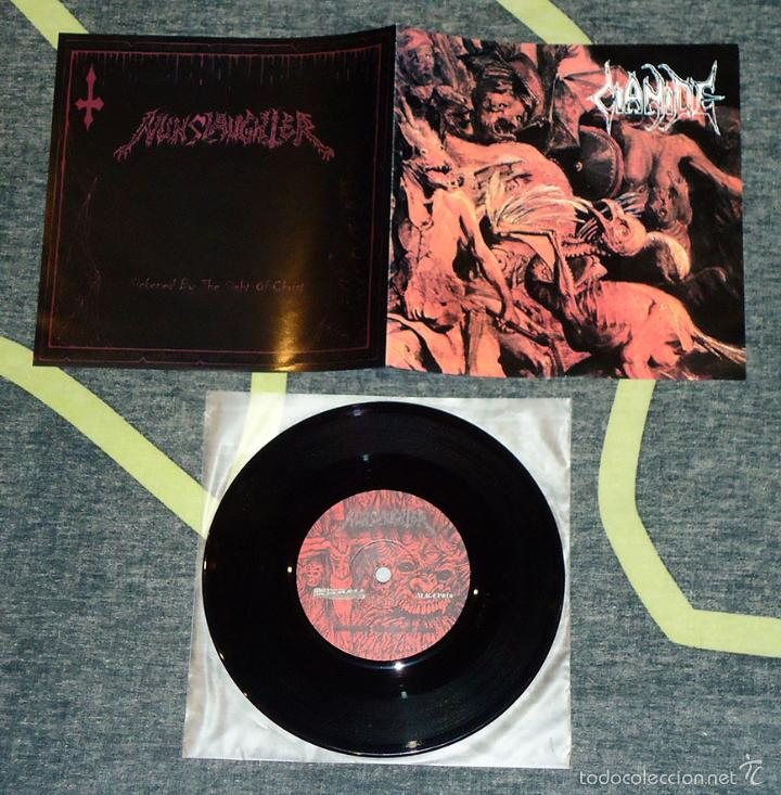 NUNSLAUGHTER / CIANIDE - SPLIT - 7'' [MERCILESS RECORDS, 2002] (Música - Discos de Vinilo - EPs - Heavy - Metal	)