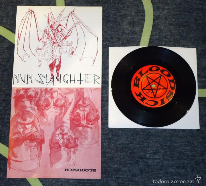 NUNSLAUGHTER / BLOODSICK - SPLIT . 7'' [AUTOEDITADO, 1997] (Música - Discos de Vinilo - EPs - Heavy - Metal)