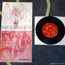 Discos de vinilo: NUNSLAUGHTER / BLOODSICK - SPLIT . 7'' [AUTOEDITADO, 1997]. Lote 56675702