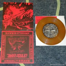 Discos de vinilo: UNHOLY GRAVE / SABBAT - SPLIT - 7'' [#883/1000 · THE SKY IS RED, 2001]. Lote 56675749