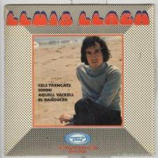 Discos de vinilo: LLUIS LLACH. EL BANDOLER, SOMNI, CELS TRENCATS. AQUELL VAIXELL . MOVIEPLAY 1970. EP. Lote 56677060