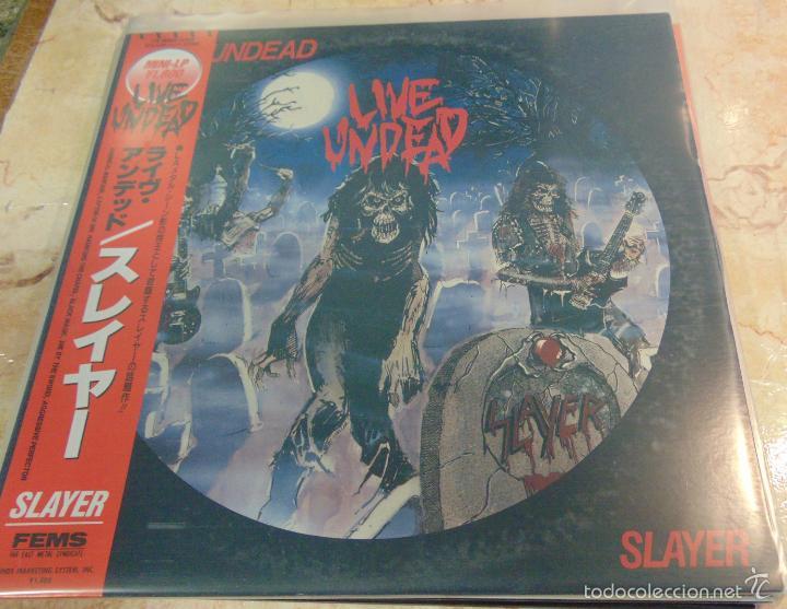 SLAYER - LIVE UNDEAD - MINI LP EDICION JAPONESA CON OBI (Música - Discos - LP Vinilo - Heavy - Metal)