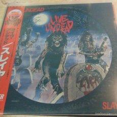 Discos de vinilo: SLAYER - LIVE UNDEAD - MINI LP EDICION JAPONESA CON OBI. Lote 56663254