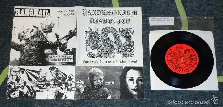 HANGNAIL / PANDEMONIUM DIABOLICO - SPLIT - 7'' [HIBACHI, 1998] (Música - Discos de Vinilo - EPs - Heavy - Metal)
