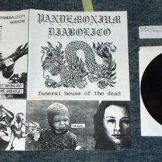 Discos de vinilo: HANGNAIL / PANDEMONIUM DIABOLICO - SPLIT - 7'' [HIBACHI, 1998]. Lote 56692396