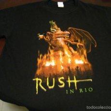 Discos de vinilo: RUSH - LIVE IN RIO 2003 - CAMISETA OFICIAL TALLA XL - PERMANENT WAVES - 2112 - MOVING PICTURES. Lote 56693604