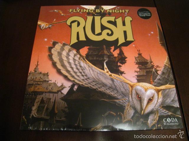 RUSH - FLYING BY NIGHT - LP - DIRECTO 1974 - VINILO NARANJA - EDICION 500 COPIAS (Música - Discos - LP Vinilo - Heavy - Metal)