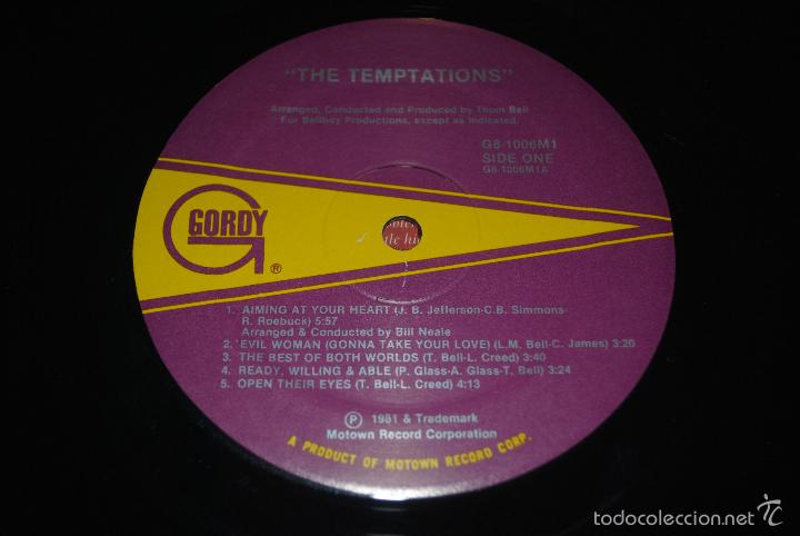 Discos de vinilo: the temptations.the temptations.(gordy 1981).usa - Foto 5 - 56695940