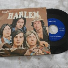 Discos de vinilo: HARLEM 7´SG AMANECER DE VERANO / JENNY (1973) EDITA BARNAFON. Lote 56696700