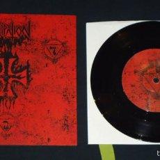 Discos de vinilo: DISSIPATION - D.S.W. - 7'' [SATANIC SKINHEAD PROPAGANDA, 2011] BLACK METAL DEATH METAL. Lote 56698156