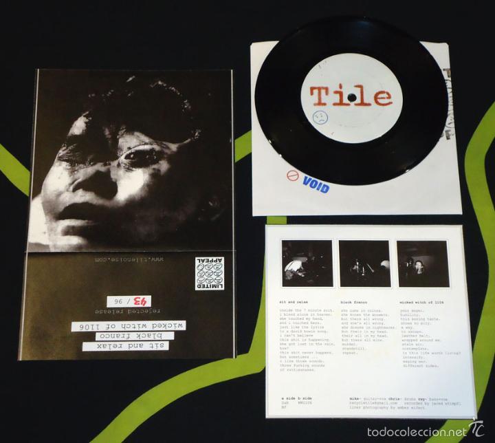TILE - SIT AND RELAX - 7'' [REJECTED PRESS · #43/96] (Música - Discos de Vinilo - EPs - Punk - Hard Core)