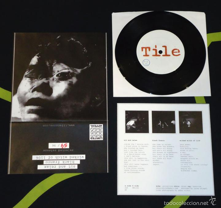 TILE - SIT AND RELAX - 7'' [REJECTED PRESS · #54/96] (Música - Discos de Vinilo - EPs - Punk - Hard Core)