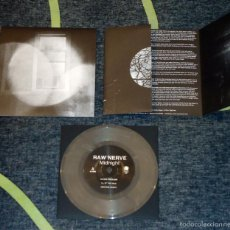 Discos de vinilo: RAW NERVE - MIDNIGHT - 7'' [CLEAR/WHITE VINYL]. Lote 56698431