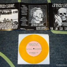 Discos de vinilo: UNHOLY GRAVE - TERROR - 7'' [BLURRED RECORDS, 1997]. Lote 56698528