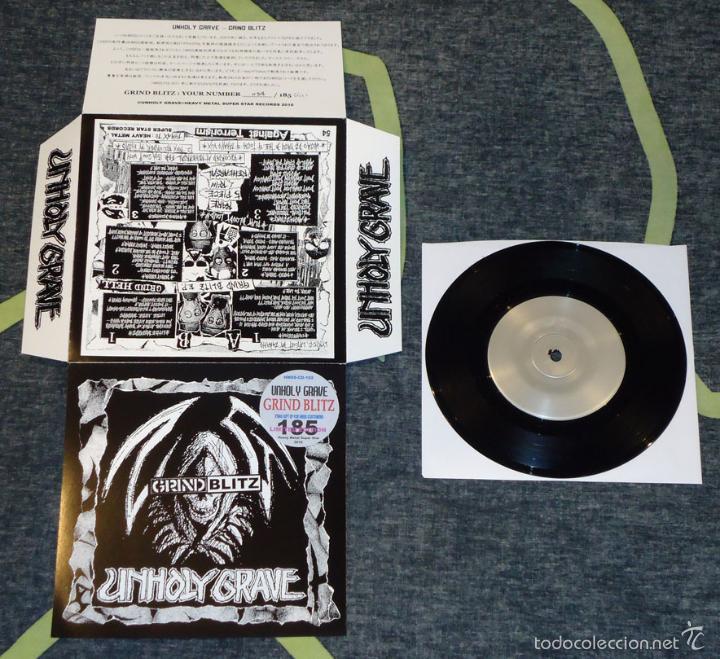 UNHOLY GRAVE - GRIND BLITZ - 7'' [#54/185] (Música - Discos de Vinilo - EPs - Punk - Hard Core)