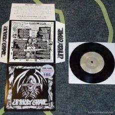 Discos de vinilo: UNHOLY GRAVE - GRIND BLITZ - 7'' [#54/185]. Lote 56698558