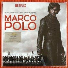 Discos de vinilo: MARCO POLO - BANDA SONORA ORIGINAL LTD. VINILO BLANCO TRANSLÚCIDO 180G 2 LP PRECINTADO. Lote 56700159