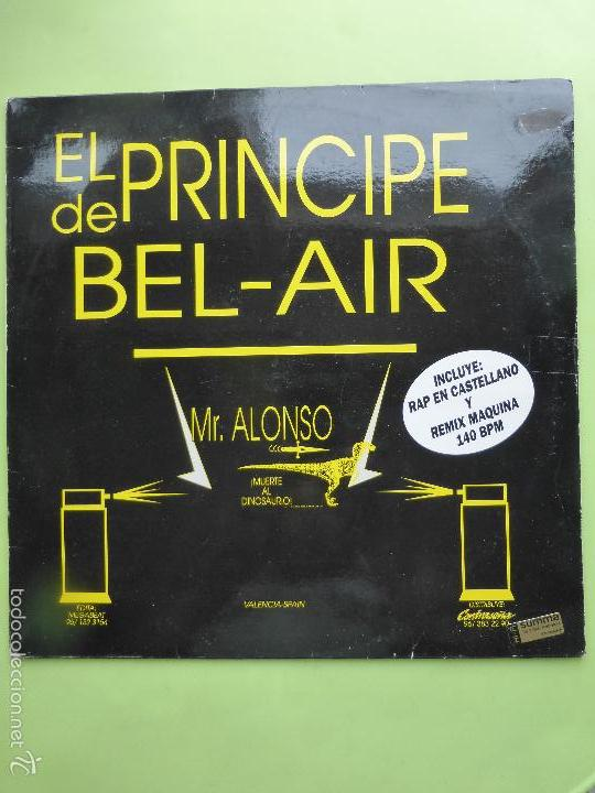 Discos de vinilo: EL PRINCIPE DE BEL - AIR , MR ALONSO - DESDE VALENCIA SONIDO ANTI - BAKALAO - RAP - VERSION - Foto 1 - 56703214