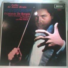 Discos de vinilo: DISCO DE VINILO FALLA - EL AMOR BRUJO (NUEVO). Lote 56704608