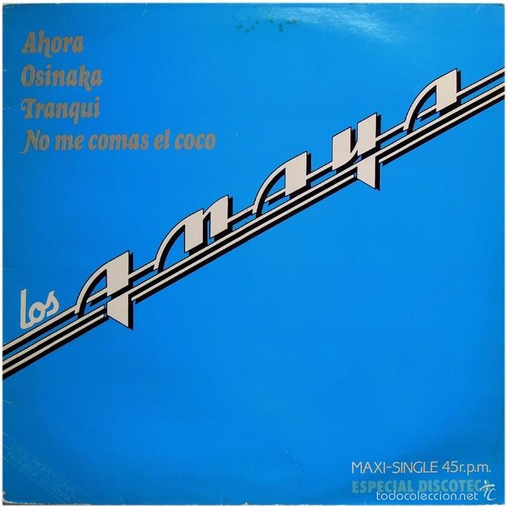 LOS AMAYA (TONY RONALD) – AHORA - MAXI PROMO SPAIN 1983 - ARIOLA 0310 (Música - Discos de Vinilo - Maxi Singles - Grupos Españoles de los 70 y 80)