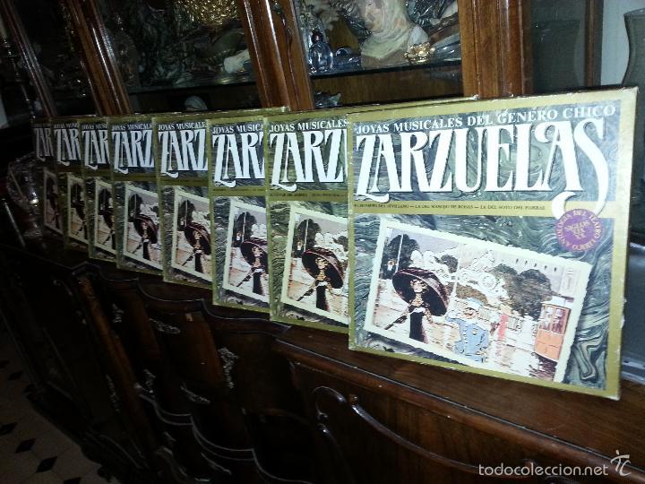 COLECCION 24 DISCOS - ZARZUELAS , JOYAS MUSICALES DEL GENERO CHICO 8 CAJA CON 3 DISCOS CADA UNO (Música - Discos - Singles Vinilo - Clásica, Ópera, Zarzuela y Marchas)
