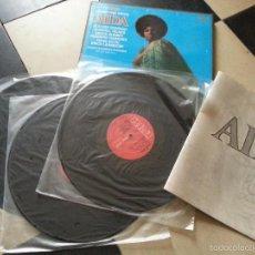 Discos de vinilo: CAJA MUSICA VERDI AIDA , 3 LPS PLACIDO DOMINGO HANS SOTIN ERICH LEINSDORF RUGGERO RAIMONDI ,,,. Lote 56715244