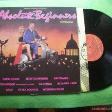 Discos de vinilo: ABSOLUTE BEGINNERS - THE MUSICAL ( DAVID BOWIE / RAY DAVIES ) - B.S.O. - EDICIÓN DE 1986 DE ESPAÑA. Lote 56722852