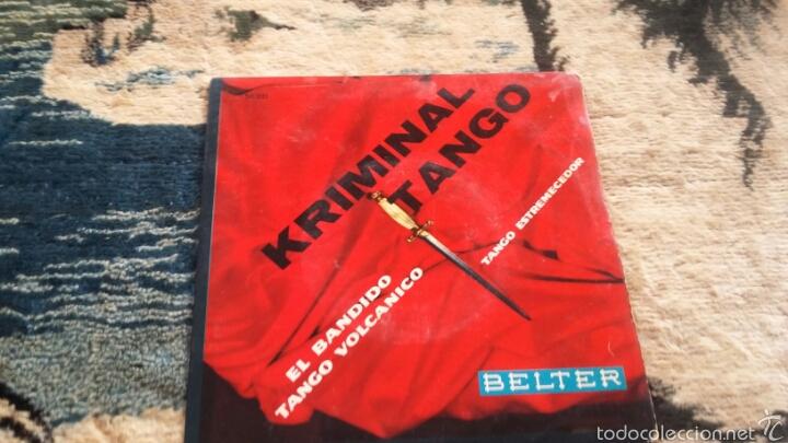VINILO KRIMINAL TANGO (Música - Discos de Vinilo - Maxi Singles - Flamenco, Canción española y Cuplé)