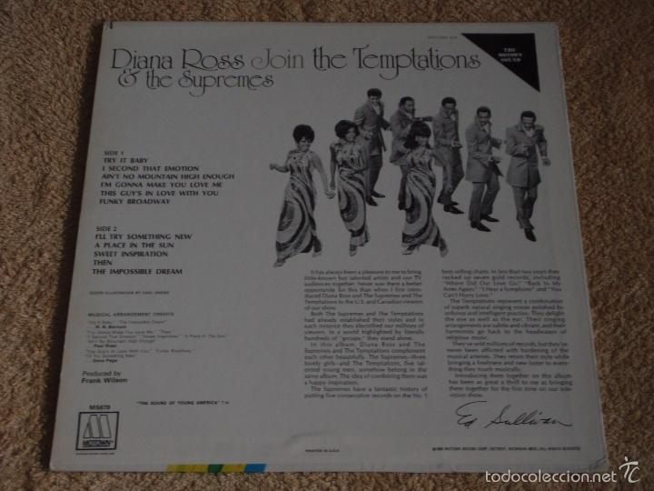 Discos de vinilo: DIANA ROSS JOIN & THE TEMPTATIONS & THE SUPREMES USA-1968 LP33 MOTOWN - Foto 2 - 56725019