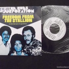 Discos de vinilo: THE HUES CORPORATION-DISCO SINGLE-SG12-FREEDON FROM...OFF MY CLOUD-1973-PROMOCIONAL. Lote 56731666