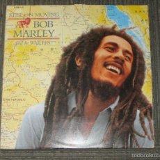 Discos de vinilo: BOB MARLEY - KEEP ON MOVING - MAXI - TUFF GONG - MADE IN UK - 1995 - 3 TEMAS - IBL -. Lote 56736532